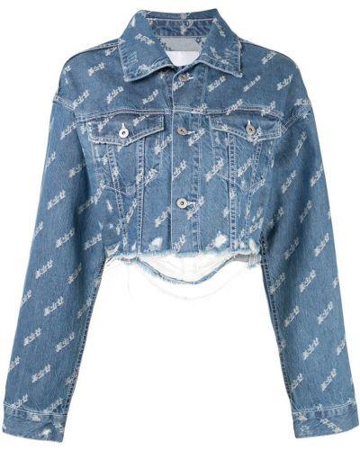 Синяя джинсовая куртка с манжетами на пуговицах Ground Zero
