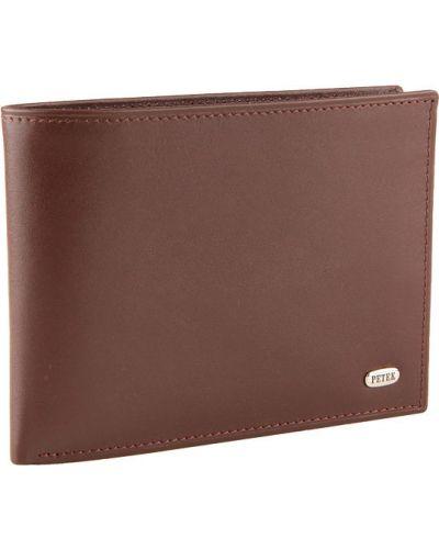 Кожаный портмоне - коричневый Petek