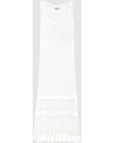Белое платье макси Twin-set