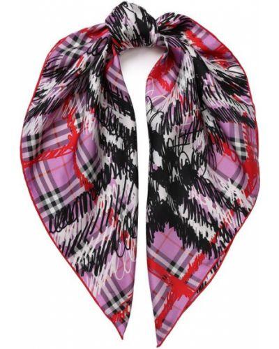 Розовый платок из шелка Burberry