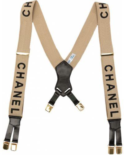 Szelki skorzane - czarne Chanel Pre-owned