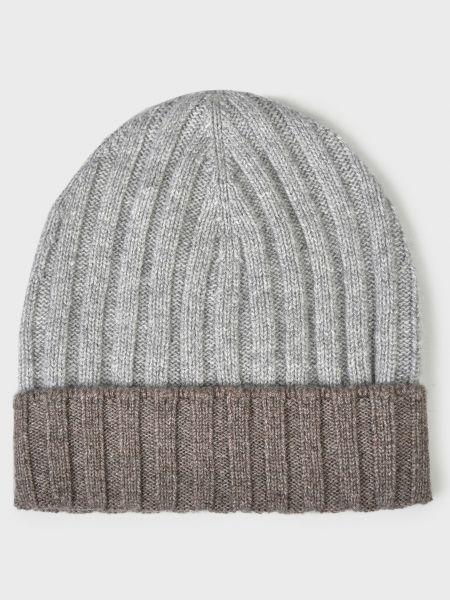 Кашемировая шапка - серая Barba Napoli
