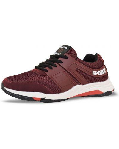 Текстильные кроссовки - красные Dual