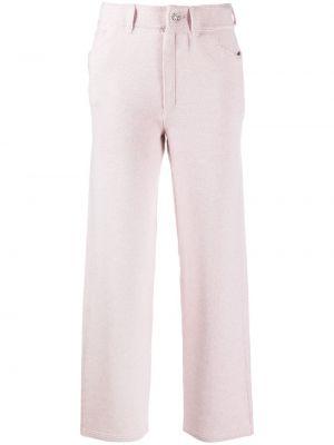 Брючные прямые розовые классические брюки с поясом Barrie