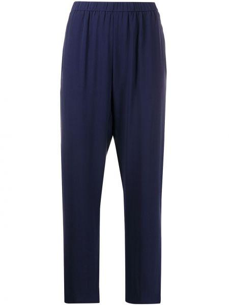 Шелковые синие брюки Eileen Fisher