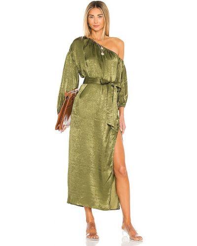 Домашнее зеленое платье миди с декольте House Of Harlow 1960