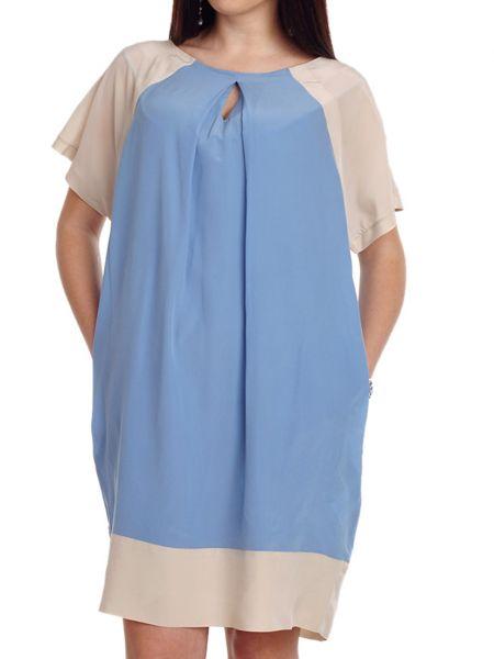 Шелковое платье - голубое Cerruti 18crr81