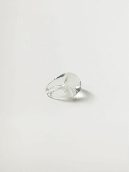Pierścionek - biały Mango
