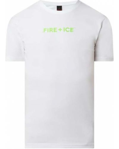 Biały t-shirt bawełniany Bogner Fire + Ice