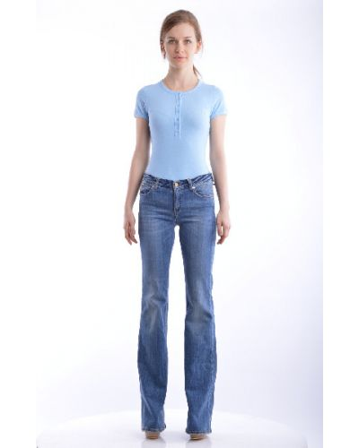 Прямые джинсы - синие Galliano