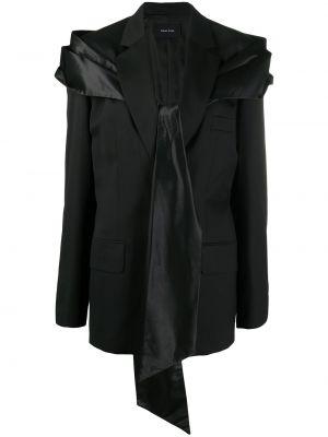 Прямой черный удлиненный пиджак с подкладкой на пуговицах Simone Rocha