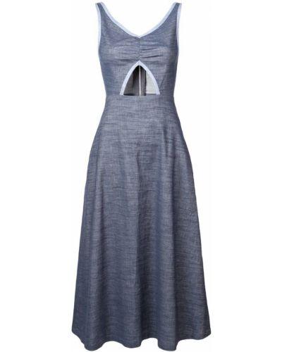 Плиссированное платье миди на молнии Jill Stuart