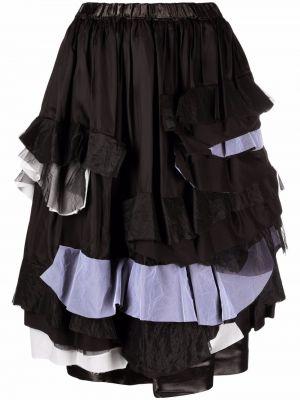 Юбка миди с завышенной талией - черная Comme Des Garçons