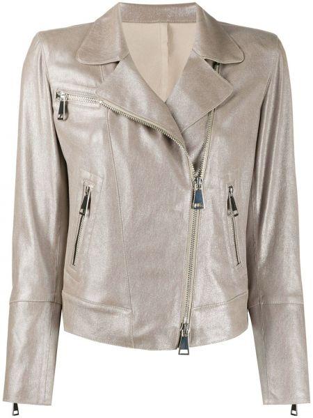 Кожаная куртка на молнии - серая Sylvie Schimmel