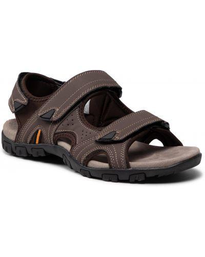 Brązowe sandały na lato Halti