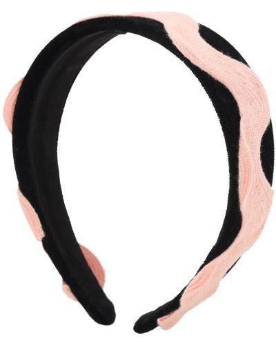 Czarny opaska na głowę z haftem Tia Cibani