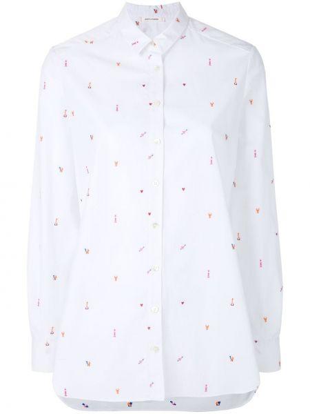 Хлопковая рубашка - белая Chinti And Parker