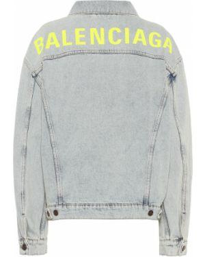 Джинсовая куртка оверсайз синий Balenciaga