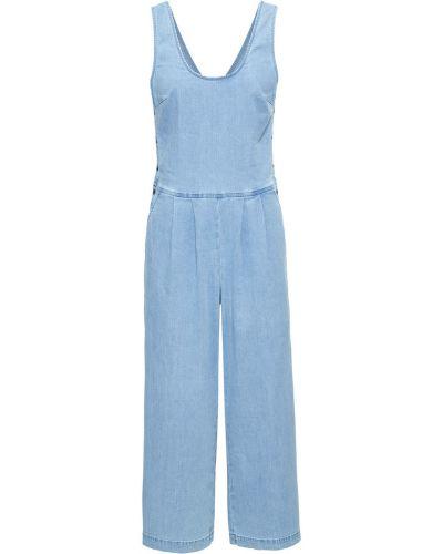 Брючный комбинезон джинсовый синий Bonprix