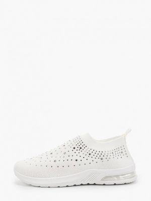 Текстильные белые кроссовки Sergio Todzi