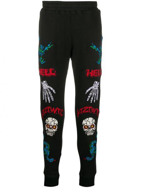 Спортивные зауженные черные спортивные брюки с поясом Ktz