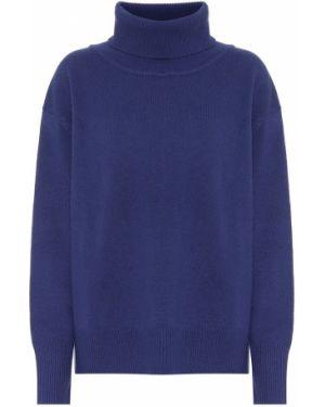 Кашемировый синий классический свитер Ryan Roche