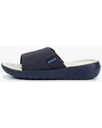 Синие сланцы Crocs