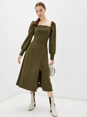 Демисезонное платье хаки Miss Gabby