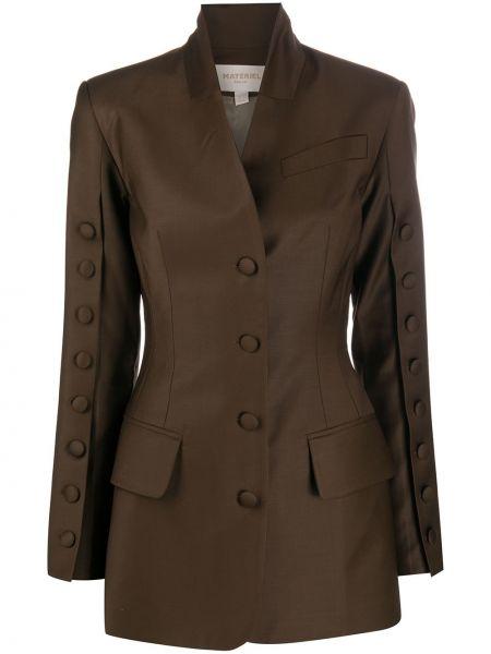 Шерстяной коричневый пиджак на пуговицах Matériel