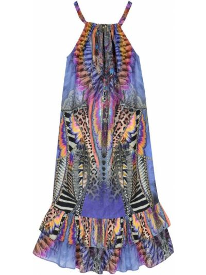 Bawełna niebieski bawełna sukienka Camilla Kids