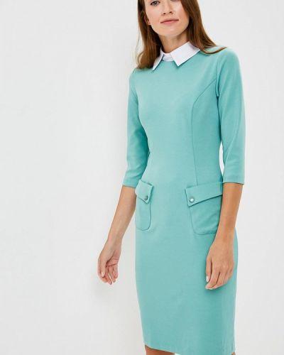 Платье осеннее бирюзовый Vittoria Vicci