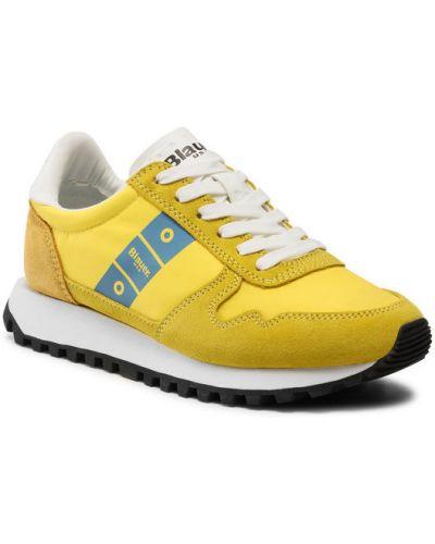Żółte sneakersy Blauer