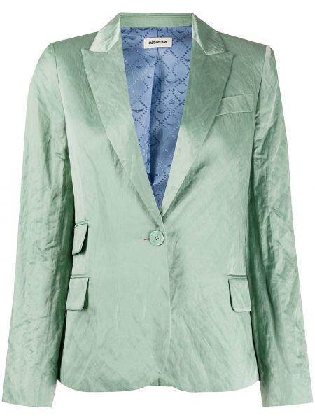 Зеленый пиджак с карманами на пуговицах Zadig&voltaire
