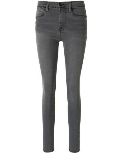 Szare jeansy rurki Frame