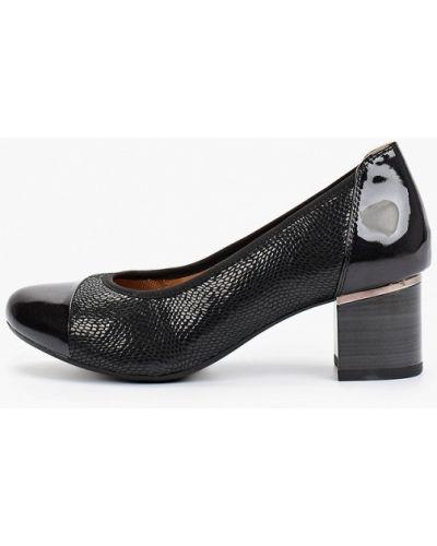 Черные туфли осенние Caprice