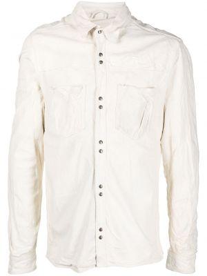 Biała klasyczna koszula bawełniana z długimi rękawami Giorgio Brato