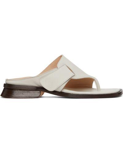 Sandały skórzane - białe Maryam Nassir Zadeh