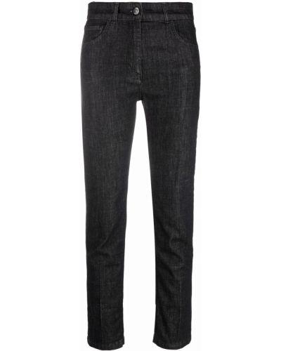 Черные джинсы с завышенной талией Seventy