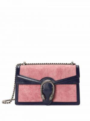 Torebka na łańcuszku skórzana - różowa Gucci