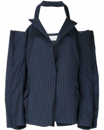 Синий пиджак с открытыми плечами Juan Hernandez Daels