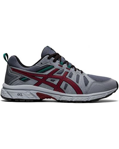 Серые кроссовки беговые для бега сетчатые Asics