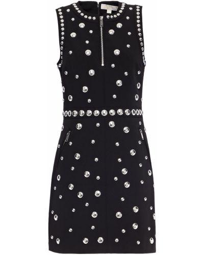 Черное платье мини на крючках с карманами Michael Michael Kors
