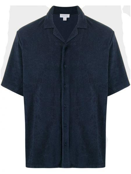 Koszula krótkie z krótkim rękawem klasyczna wyposażone Sunspel