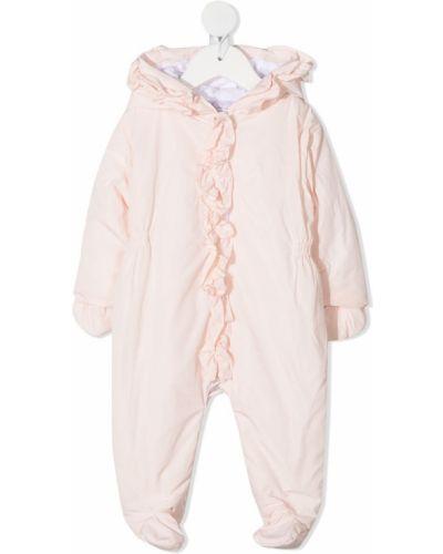 Розовая классическая пижама с капюшоном с оборками Patachou