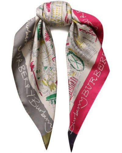 Розовый шелковый платок Burberry
