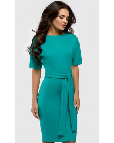 Повседневное платье бирюзовый весеннее 1001dress