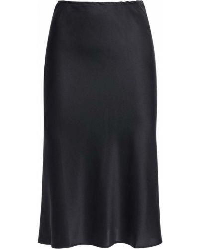 Czarna spódnica midi z jedwabiu Ciao Lucia