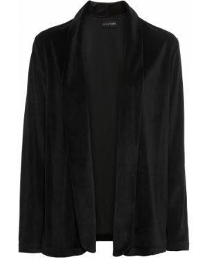 Пиджак черный бархатный Bonprix