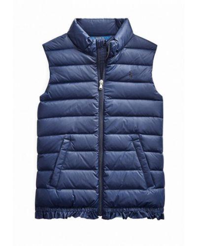 Синяя теплая жилетка Polo Ralph Lauren