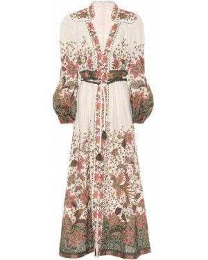 Платье макси ампир льняное Zimmermann